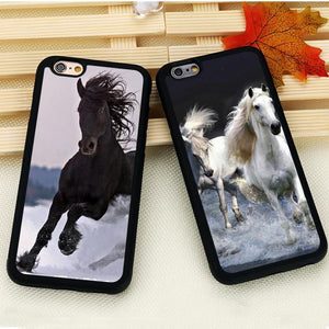 Fitted Cases Horse Running Printed iPhone Case