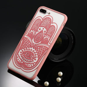 Fitted Cases Pink hamsa / For iPhone 5 / 5s SE Oriental Flower Case