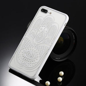 Fitted Cases White hamsa / For iPhone 5 / 5s SE Oriental Flower Case