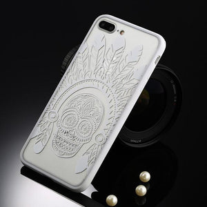 Fitted Cases White Indian skull / For iPhone 5 / 5s SE Oriental Flower Case