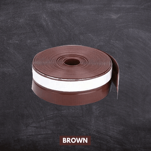 Flexible Weather Door Seal Strip Brown / Small (5 m x 25 mm) Seal Strip