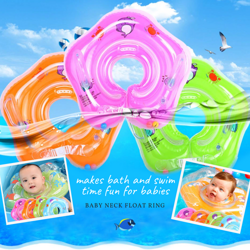 Float & Have Fun - Baby Neck Floating Ring Orange Floating ring