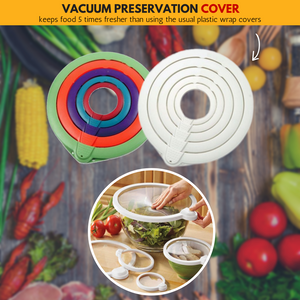Food Fresh 2019 - Vacuum Preservation Cover (5 pcs set) Multi-color (5 pcs set) Fresh-keeping Lids