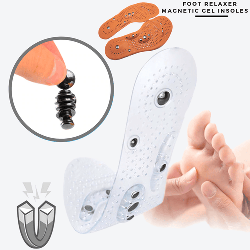 Foot Relaxer - Magnetic Gel Insoles (2 pcs set) White (2 pcs set) / S Gel Insoles