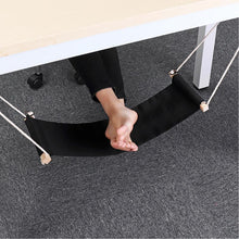 Load image into Gallery viewer, Foot Relaxing Desk Hammock Black Hammocks