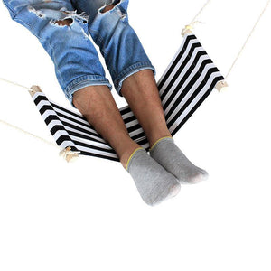 Foot Relaxing Desk Hammock Black and White Hammocks