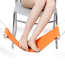Load image into Gallery viewer, Foot Relaxing Desk Hammock Orange Hammocks
