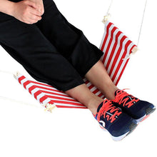 Load image into Gallery viewer, Foot Relaxing Desk Hammock Red and White Hammocks
