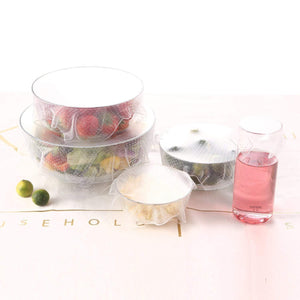 Fresh Food Silicone Cover Set 4PCS Set Food Covers