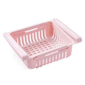 Fridge Saver - Multipurpose Storage Drawer Pink Food Separator