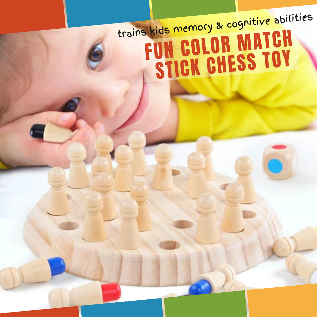 Fun & Educational - Color Match Stick Chess Toy Educational toy