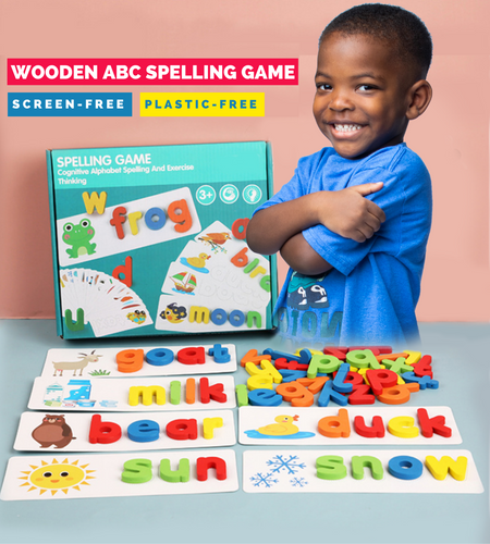 Fun Learning - Wooden ABC Spelling Game Set Learning Toy