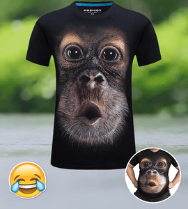 Funny Monkey Magic Tee Black / Small T-Shirts