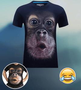 Funny Monkey Magic Tee Navy Blue / Small T-Shirts