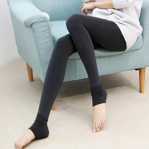 Furry Winter Warming Leggings Gray Leggings