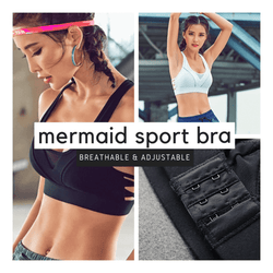 Get That Curve - Mermaid Push Up Sports Bra Black / S Sports Bras
