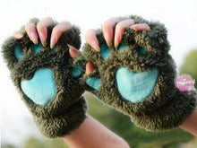 Load image into Gallery viewer, Gloves & Mittens Army Green - 2 pairs KittenMittens
