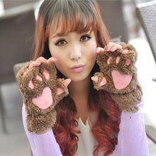 Load image into Gallery viewer, Gloves & Mittens Khaki - 2 pairs KittenMittens