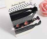 Hair Accessories Black Polka Fashionable Multi-color Elastic Women Hair Accessories