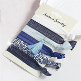 Hair Accessories Blue Tassel Fashionable Multi-color Elastic Women Hair Accessories