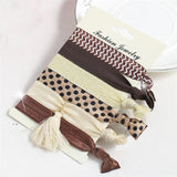 Hair Accessories Brown Polka Fashionable Multi-color Elastic Women Hair Accessories