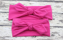 Load image into Gallery viewer, Hair Accessories fushia Mom & Me Boho Headband Set