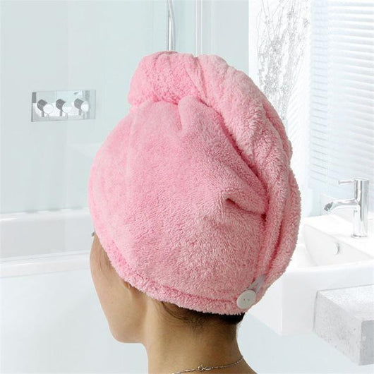 Hair Towels Pink Comfy Quick Dry Hair Wrap