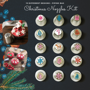 Happy Baking - Christmas Nozzle Kit (17 pcs set) Christmas Nozzle
