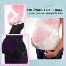 Load image into Gallery viewer, Happy Preggy - Comfy Pregnancy Band White / S Maternity Belt