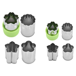 Happy Snacks Fruits/Vegetable Cutters (8 pcs set) Green set Fruits and Vegetables Cutter