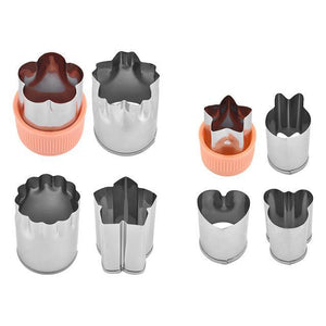 Happy Snacks Fruits/Vegetable Cutters (8 pcs set) Orange set Fruits and Vegetables Cutter