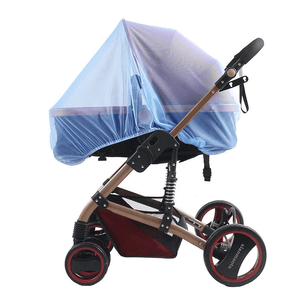 Happy Stroll® Universal Stroller Mosquito Net Blue Crib Netting