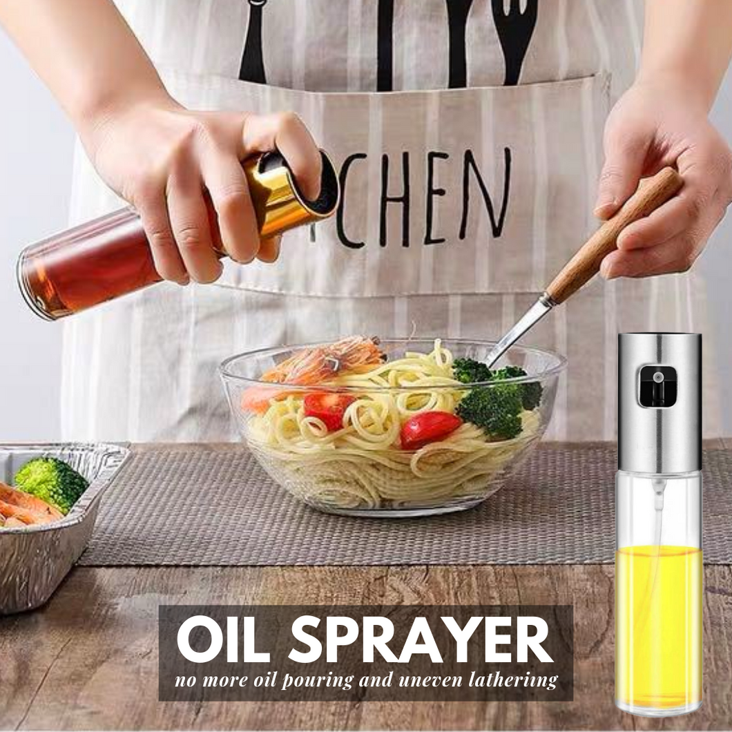 Healthy Cooking - Oil Sprayer Silver Oil Sprayer