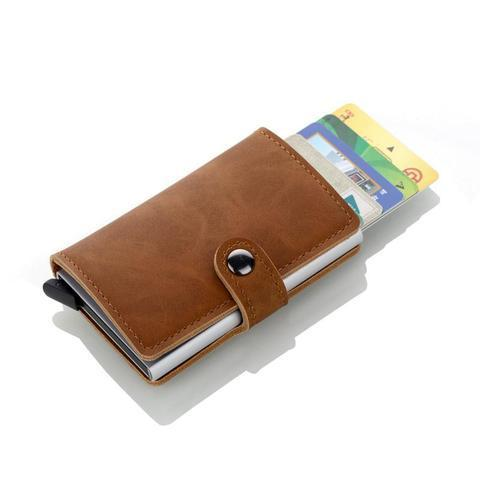 High Quality RFID Leather Wallet Brown Wallets