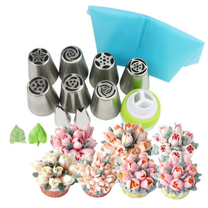 Home 11 pcs Floral Magic™ baking nozzles set (6pcs/11pcs/24pcs set)