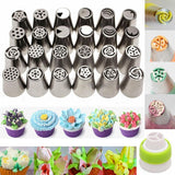 Home 24 pcs Floral Magic™ baking nozzles set (6pcs/11pcs/24pcs set)