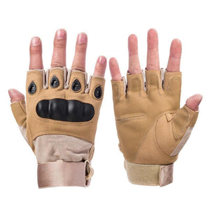 Hot Buy 2019 Tactical Gloves Half finger Brown / M Household Gloves