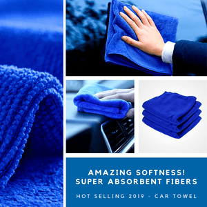 Hot Selling 2019 Blue Microfiber Car Towel S / 1 pc Absorbent Towel