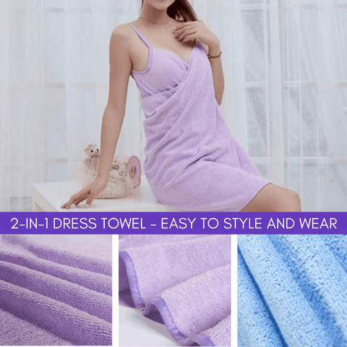 Hot Trend 2019 - 2-in-1 Towel Dress Violet Bath Towels