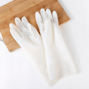 Household Plastic Cleaning Nitrile Rubber Gloves Kitchen Washing Dishes/Clothes Waterproof Durable Wear-Resistant Gloves Household Gloves