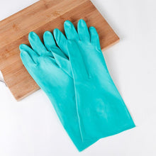 Load image into Gallery viewer, Household Plastic Cleaning Nitrile Rubber Gloves Kitchen Washing Dishes/Clothes Waterproof Durable Wear-Resistant Gloves Household Gloves