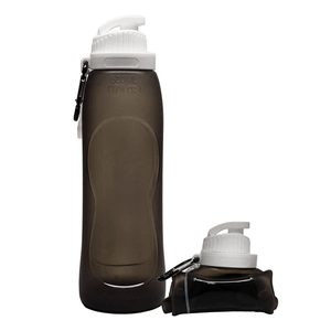 Hydrate PRO® Collapsible Water Bottle Gray Water Bottles