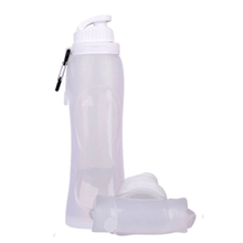 Load image into Gallery viewer, Hydrate PRO® Collapsible Water Bottle White Water Bottles