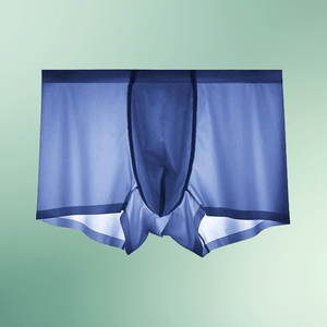 Icy Men® Men's Ice Silk Underwear Blue (Only 17 remaining) / L Boxers