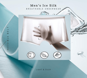 Icy Men® Men's Ice Silk Underwear (Hot sale) White / L Boxers