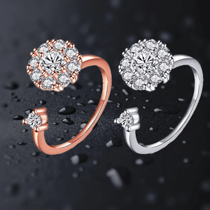 Infinite Glamour - Whirling Ring Silver + rose gold (2 pcs set) Rings