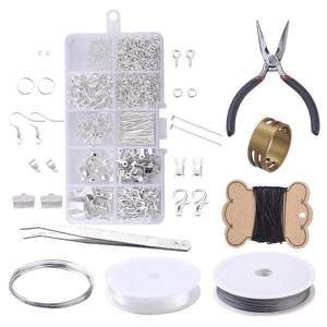 Jewelry Craft - DIY Earrings Set (924 pcs set) Silver set DIY Earrings