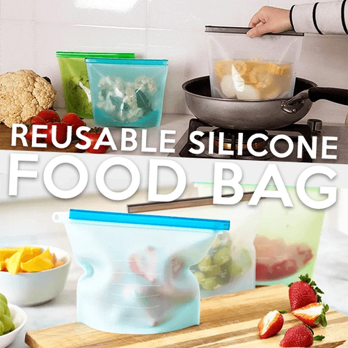 Keep it Fresh&Sealed Silicone Bags White / 1000 ml Reusable Bags