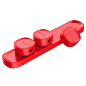 Keep it Organized - Magnetic Cable Organizer Red Cable Winder