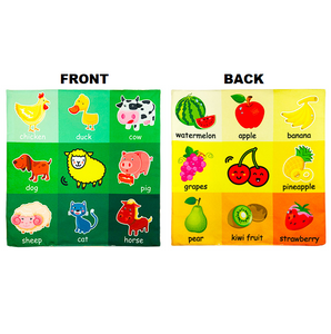 Learning Star - Educational Soft Toy Cloth Animals and fruits Educational Cloth Book